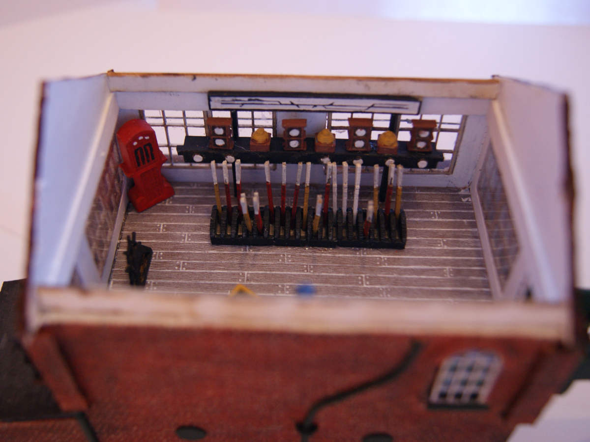 Medium signal box interior made with laser cut elements and 3D printed parts in a custom signal box. Submitted by Claire and Martin Gilmore on 12th June 2015