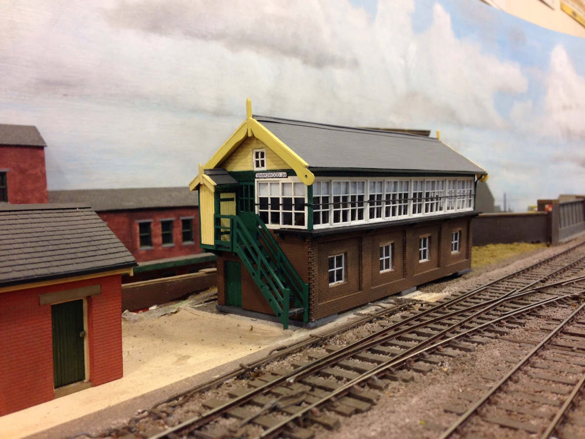 B 00-12 large signal box with scratch build gables and roof. Submitted by Steve Brammer on 8th June 2016