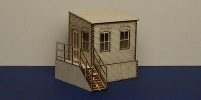 LCC B 70-03L O gauge warehouse office with basement - left version