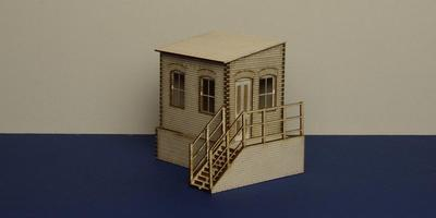LCC B 70-03R O gauge warehouse office with basement - right version