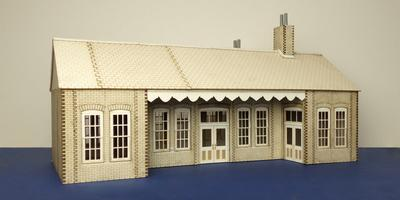 LCC B 70-04 O gauge early 20th century country railway station type 2